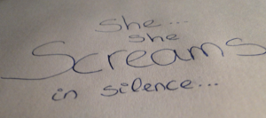 And she screams…